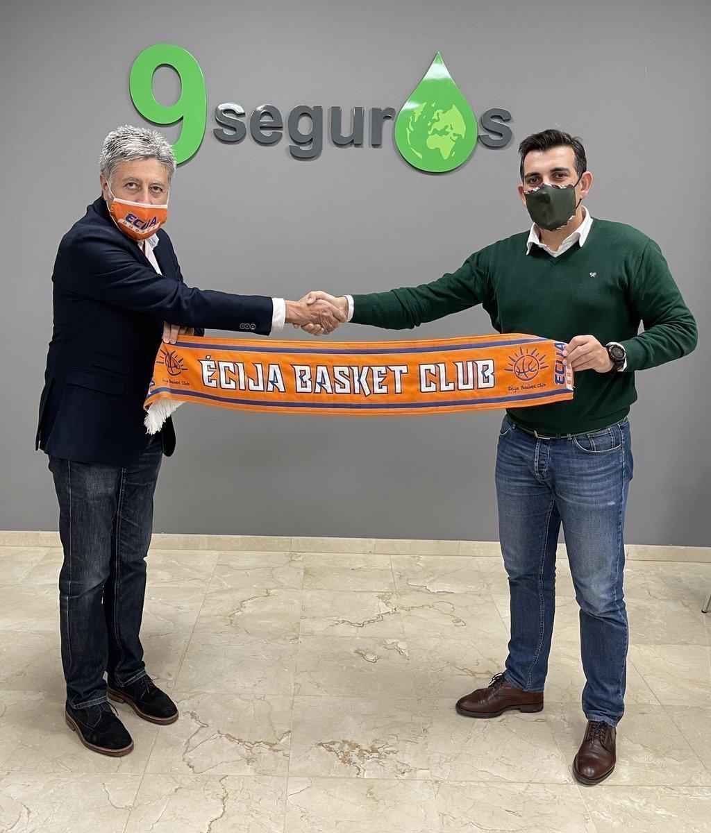 Con el presidente de Écija Basket